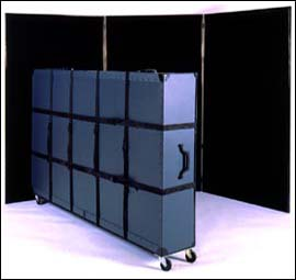48x96 inch shipping case with casters