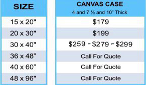 Canvas Case Pricing