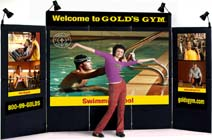 Trade Show Display with five panels over five panels.