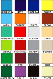 Table Top Display Colors