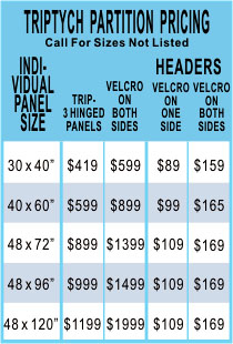 Triptych, Folding Display Pricing