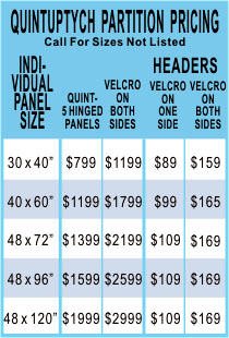 Five Panel, Folding Display Pricing