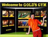 Table Top Display For Gold's Gym