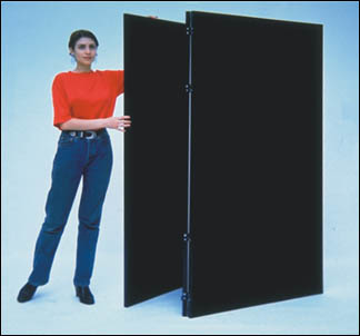 Folding Velcro room divider partition